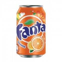 Fanta orange canette 33 cl