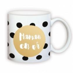 Mug Maman en Or